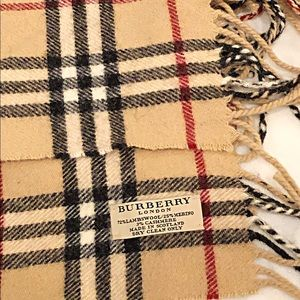 Vintage Burberry London Check Scarf, Authentic